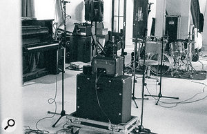 The improvised studio seen from the other end.