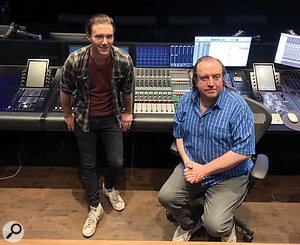 Brad Rees (left) and Nigel Heath were the re-recording mixers on Downton Abbey.