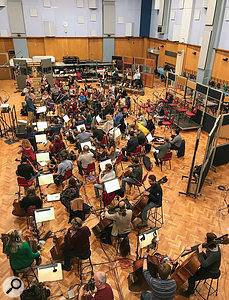 Abbey Road Studio One is one of very few purpose-built recording studios that can accommodate a large ensemble.