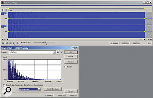 Figure 4a: The source file for our second kick drum example.