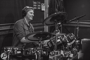 Roger [Taylor] playing aRoland TD‑30KV V‑Drum kit.