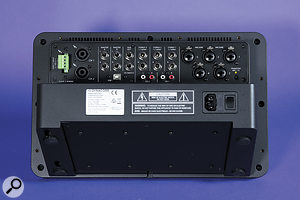 Including the aux, there are three line outs in total, any of which can be internally routed to the on-board Class-D amplifier.