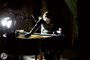 """Rasmus: """"This is Mads playing the world's northernmost grand piano. We read about its existence after hearing about the ghost town of Pyramiden, and it was abig reason for why we just had to travel to Pyramiden. We have used it throughout the album, but not in obvious grand piano ways. Itwas in very bad shape, but we made good use of it."""""""