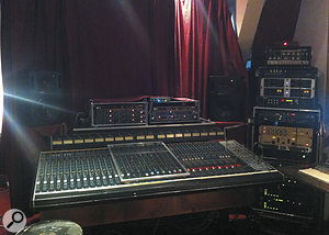 The modified Soundcraft desk at andereBaustelle Tonstudio was pieced together from three original examples.