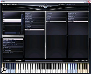 Play's Browser page allows you to create virtual folders containing your favourite instruments.