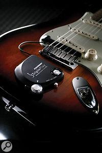The Fishman TriplePlay wireless MIDI guitar system.