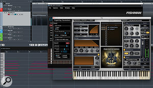 The Fishman software can itself be run as a  plug-in within your usual DAW/sequencer host, as shown here within Cubase Pro 9.