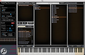 As shown here for the Orchestra title, each of the five MIDI Guitar Instrument volumes provides a broad selection of instrument presets.