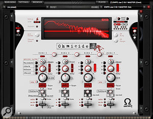 The Ohmicide effect is great if you want to turn your acoustic drum kit into something just a  touch more industrial.
