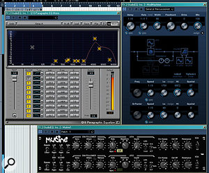 Used as a send effect, a resonant filter can be used much more creatively than as an insert.