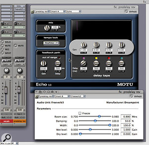 Pre-delay on the reverb can help separate it out from the source sound. If your reverb has no controls for pre-delay, you can simulate this using a simple delay on an aux track before the reverb.