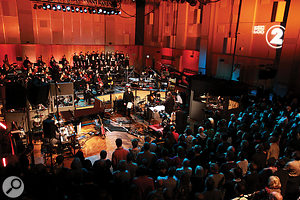 Elbow performing with the BBC Concert Orchestra and Chantage in Abbey Road Studio 1.