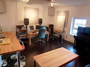 The nerve centre of Elbow's operations is this room at Blueprint Studios in Manchester. With no desk or control surface, recording and mixing happens entirely 'in the box'.