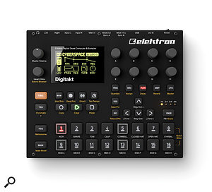 The Digitakt is more compact than its larger siblings, measuring just 215 x 176 x 63 mm.