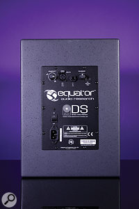 The rear panel houses the D8's input connectors, as well as a stepped level control and a three-way boundary voicing switch.