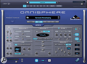 Omnisphere's Edit Page abandons the 'Easy Edit' concept from Stylus RMX, instead presenting all parameters within a  series of increasingly low–level pages.