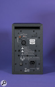 As well as the power and audio input sockets, the SC204's rear panel features DIP siwtches for locking various front-panel settings.