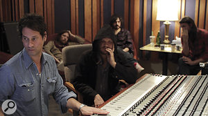 Phil Ek (left) helped Fleet Foxes to record their first album, and took amore hands‑on role in producing Helplessness Blues.