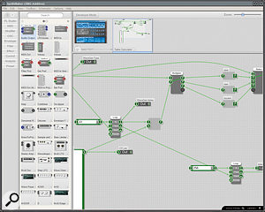 A version of Outsim's Synthmaker, a  modular environment for the creation of complex effects, synths and  processors, comes free with FL  Studio 8.