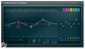 <em>Fruity Parametric EQ2</em> is a flexible EQ with a clever mouse-friendly interface.