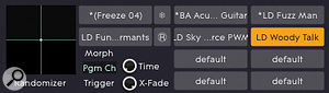 Using TransMod to apply abit of randomness to oscillator 3's frequency.