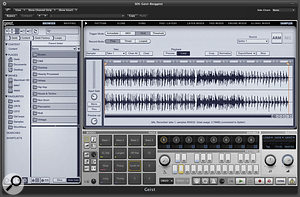 Sampling direct from a DAW using the Spitter plug‑in.