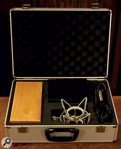 The VT‑67 ships in a hard carry-case, along with a wooden box, shockmount, power supply and XLR cable.
