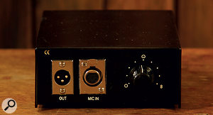 As well as powering the microphone, the PSU houses the nine-position dial for selecting the polar pattern.