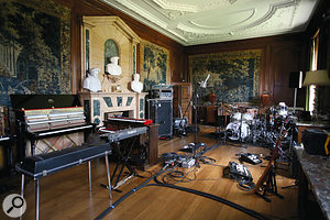 The larger live room at Bradley House.