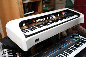 Pride of place among the band's many keyboards goes to the vintage Cordovox.