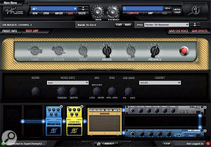 The Fender Fuse software allows you to configure the modelling stage of the Super Champ X2 via computer.