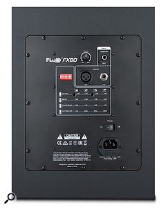 The various EQ and placement options are accessed via a  set of DIP switches on the back of the monitor.