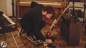Guitar effects pedals became very important to the sound of the album.