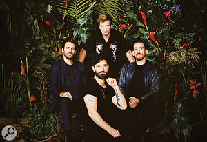 Everything Not Saved Will Be Lost, Part 1 is Foals' first album as afour-piece. Clockwise from left: Jimmy Smith, Jack Bevan, Edwin Congreave and Yannis Philippakis.