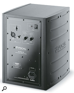 The rear panel houses the XLR and RCA phono inputs, as well as LF and HF shelving controls.