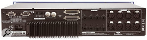 The rear panel of the ISA828 hosts all the mic and line inputs. The review model was fitted with the optional card that provides the digital connectivity.