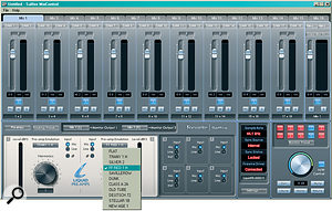 The preamp emulations are selected via the Saffire Mix Control software, which also includes auseful tabbed mixer.