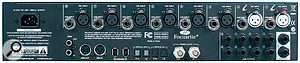 The rear panel hosts the considerable I/O complement: two ADAT (or optical S/PDIF) I/O ports, eight analogue mic and line inputs, 10 analogue line outputs, S/PDIF coaxial I/O, MIDI I/O, word clock and, of course, an IEC inlet and two Firewire ports.