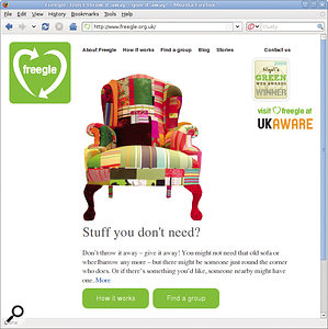 Freegle (or Freecycle in the US) is agreat place to find recycled furniture and other free materials for your studio project — but you have to be quick!