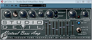 Studio Devil Virtual Bass Amp is a cost‑effective bass amp emulator.