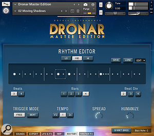 Some of the Master Edition samples have rhythmic elements that can be manipulated via the Rhythm page.