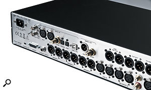 Comprehensive digital and analogue I/O are catered for on the rear of the 19-inch rackmount unit.