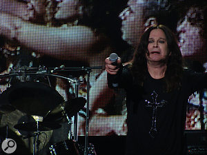 Ozzy now uses a  Shure Beta 58A capsule for his vocals, in part because of its water-resistant properties...