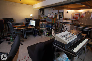 Goddard's studio is based around a  Malcolm Toft desk.