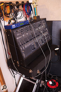 Among the vintage synths populating Goddard's studio is this ARP 2600.