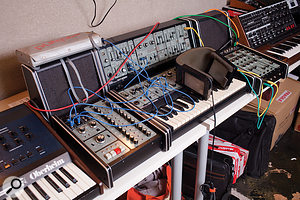 A rare example of a  complete Roland System 100 semi-modular synth.
