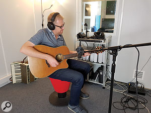 Richie Webb lays down some guitar for another much-loved Cbeebies show, Mr Tumble.