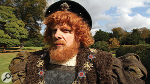 Most of the Horrible Histories songs are sung to camera by actors — including guest star Rowan Atkinson as King Henry VIII.