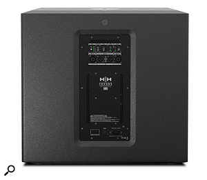 The subwoofer has abuilt-in stereo crossover, with adjustable frequency and phase controls.