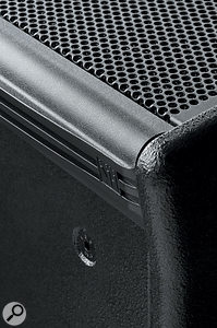 All the speakers in the range enjoy the same wooden construction with textured black-paint finish.